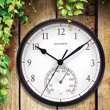 best outdoor clock thermometer sathoud decors perfect with prepare 9