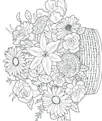 free coloring pages for spring flowers flower coloring pages free coloring pages of flowers coloring pages