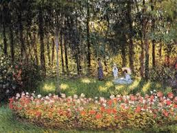 claude monet painting garden in