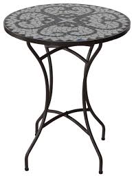 cortesi home cece mosaic round indoor outdoor bistro table 24 contemporary outdoor pub and bistro tables by cortesi home