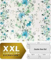 Vliesbehang Xxl Edem 907 04 Bloemen Behang Met Textiel Structuur Wit