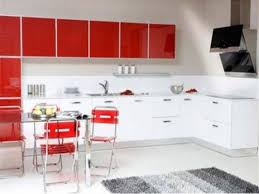 White Kitchen With Red Accents Black Red White Modern Kitchen With Red Accent Color Kitchen