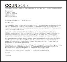 Ideas Collection Assistant Principal Cover Letter Sample For Cover