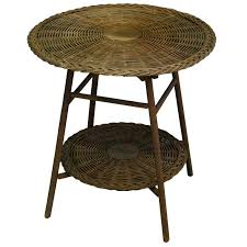 wicker table round wicker two tier side table heir round wicker table round wicker table and wicker table conservatory