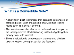 Convertible Note Agreement Template Classy Convertible Note Presentation