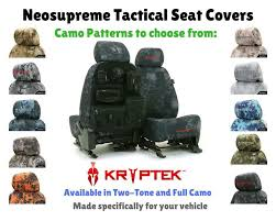 details about kryptek tactical custom fit seat covers neosupreme for toyota matrix