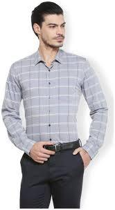Buy Van Heusen Men Slim Fit Formal Shirt Grey Online At