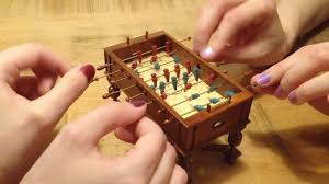 Miniature Wooden Foosball Table Game Highly Detailed Miniature Wooden Foosball Tables 21