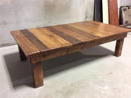 reclaimed wood coffee table repaint
