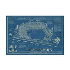 Royals Seating Chart 2012 Baseball Stadium Blueprints Ball Field Art Sports Prints