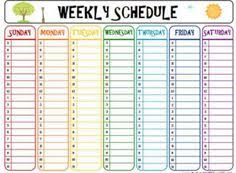 Time Management Template: Weekly Schedule. Going To Give This A Try ...