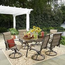 grand resort 7 piece oakdale padded sling dining set ideas of sears patio furniture clearance