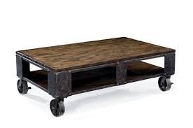 Industrial Coffee Table Cart Total Fab Modern Industrial Warehouse Railroad Cart Coffee