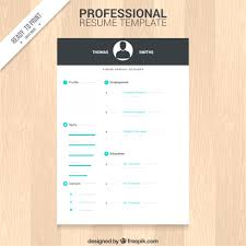Professional Resume Template Free Print Modern Curriculume Download