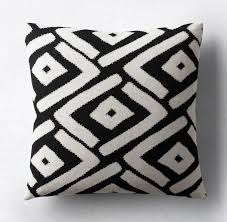 view in gallery black and white pillow cover from restoration hardware