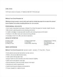 Receptionist Objective Resume Best Of Medical Receptionist Resume Medical Receptionist Resume Objective