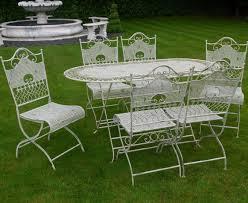 white iron garden furniture. Jayden Shabby Chic White Wrought Iron Metal Garden Furniture Patio