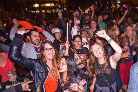 sports fans celebrating. sports fans celebrating o
