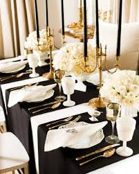 ... Awesome Black White And Golden Color Themed New Years Eve Party  Decorations Ideas For Elegant Nye ...