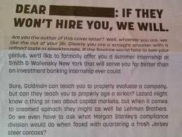smith wollensky new york times ad business insider the best cover letter ever written