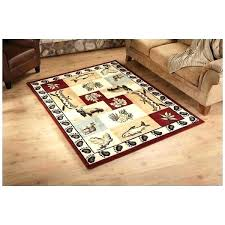 fish area rug hunting area rugs bear fish deer area rug wildlife themed carpet patchwork hunting fish area rug