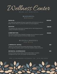 Spa Menu Of Services Template Spa Menu Templates Free Premium Template Photoshop Of Services