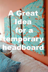Headboard Alternative Ideas Quick And Easy Temporary Headboard Alternative