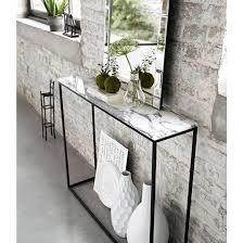 narrow console table. Mahaut Marble Console Table Narrow