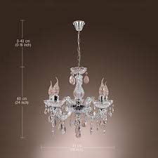 chandelier and pendant lighting. New Upligh Chrome Ceiling Lamp 5 Candle Light Acrylic Fixture Chandelier Pendant And Lighting