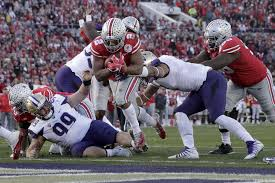 ohio state running back j k dobbins scores against washington during the second half of the rose