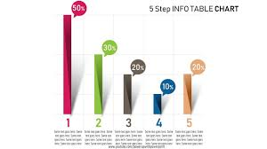 Step Chart In Powerpoint 32 Create 5 Step Info Table Chart Infographic Powerpoint