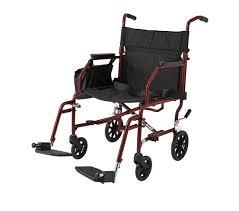 ultra light steel transport wheelchair