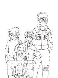 Small Picture Sasuke Naruto Sakura And Kakashi Coloring Page Sasuke Naruto