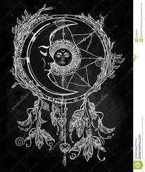 L Attrapeur R Veur A Orn Avec Le Soleil Et La Lune L Int Rieur