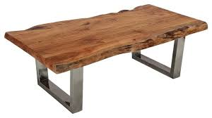 steel rustic live edge coffee table