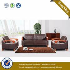 china antique color wooden frame genuine leather couch office sofa hx cf013 china office furniture modern sofa