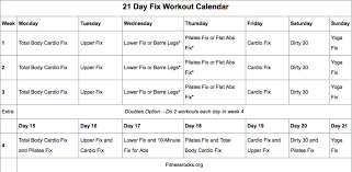 21 Day Fix Workout Schedule Week 3 Anotherhackedlife Com