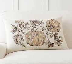 Gilded Pumpkin Palampore Lumbar Pillow Cover