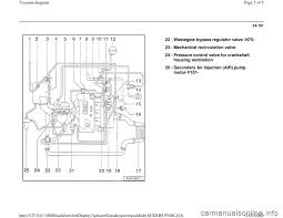 audi a6 1996 c5 2 g atw engine vacuum diagram workshop manual
