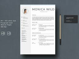 Resume Template Cv Word Mac By Resume Templates On Dribbble