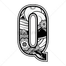 Decorative alphabet q