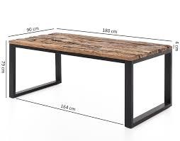 Finebuy Esstisch Ballari Esszimmertisch Modern Holztisch Massiv