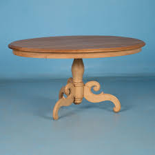 oval antique swedish pine coffee table