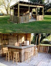 Diy outdoor bar Creative Image May Contain House Tree And Outdoor Facebook Diy Outdoor Bar Made From Palletswhat Kitchen Fun With My