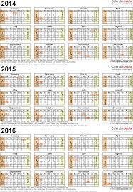 Calendar June July 2015 2014 2015 2016 Calendar 4 Three Year Printable Word Calendars