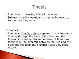 The Outsiders Book Report Essay Tips On Writing A Thesis Statement Writing Center The Outsiders