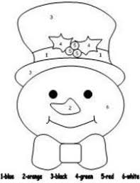 Small Picture snowman color by number pages Preschool items Juxtapost