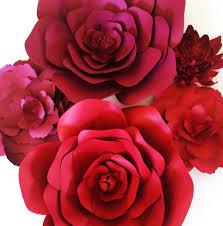 Red Paper Flower Vintage Furniture Rental Southern California Paperflora