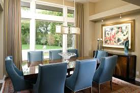 blue dining rooms. blue wood dining chairs dark room contemporary with table side striped drapes rooms
