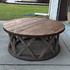 coffee tables simple brown rectangle wood rustic table set round throughout decor 14